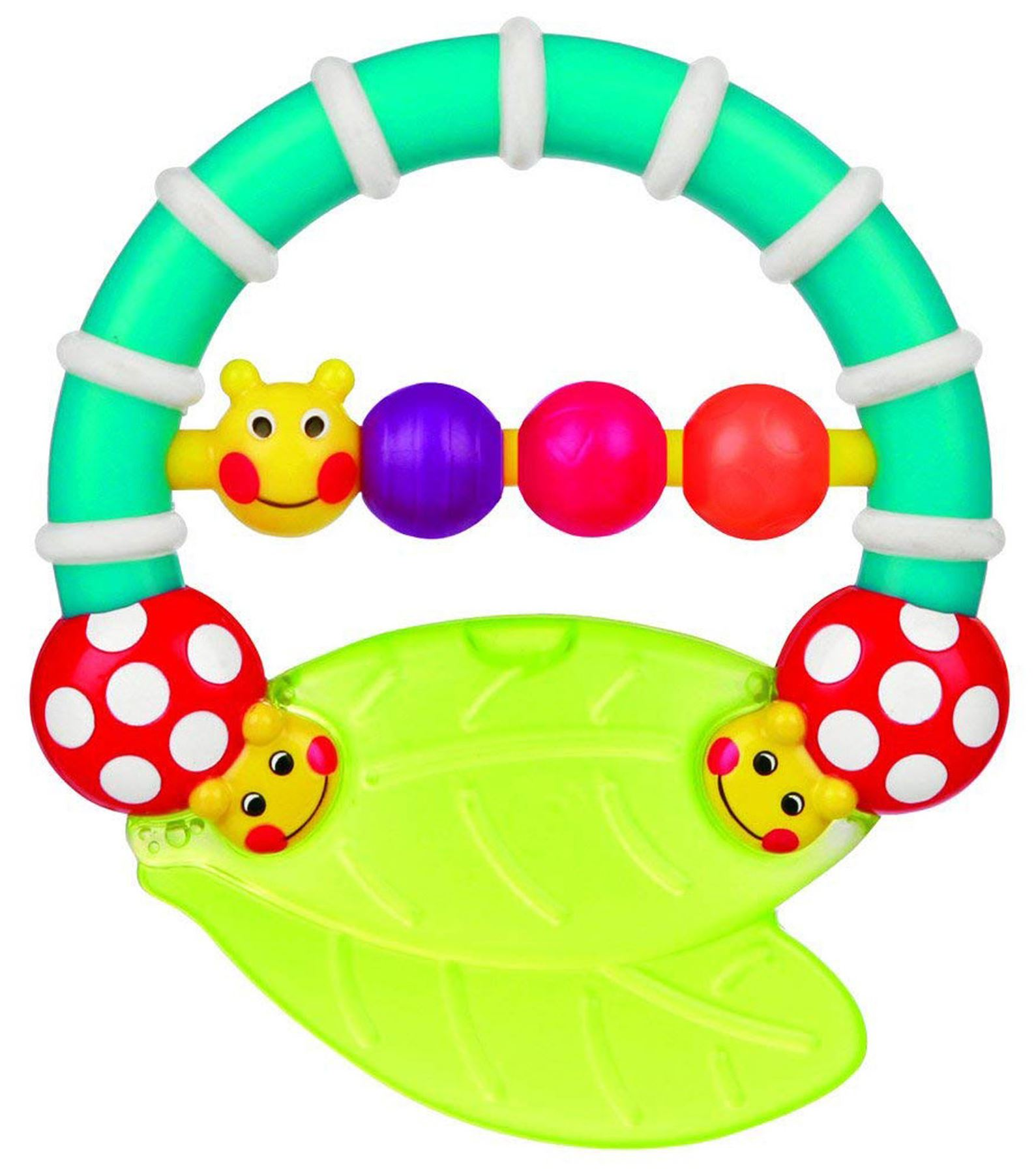 Amichevole Sassy Caterpillar Teether Baby Giocattolo Sonaglio Bn-mostra Il Titolo Originale