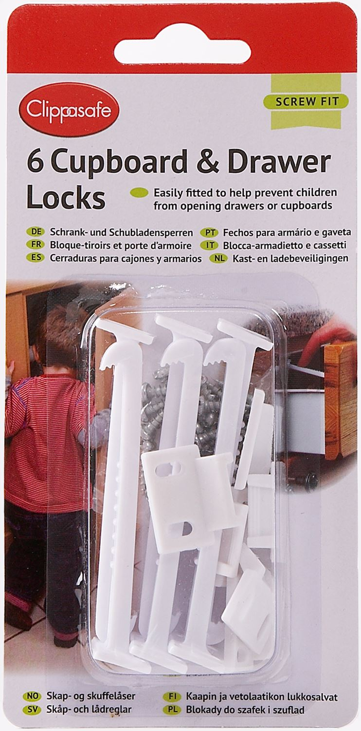 Clippasafe Fridge /& Freezer Latch Lock Child Baby Proofing Home Safety