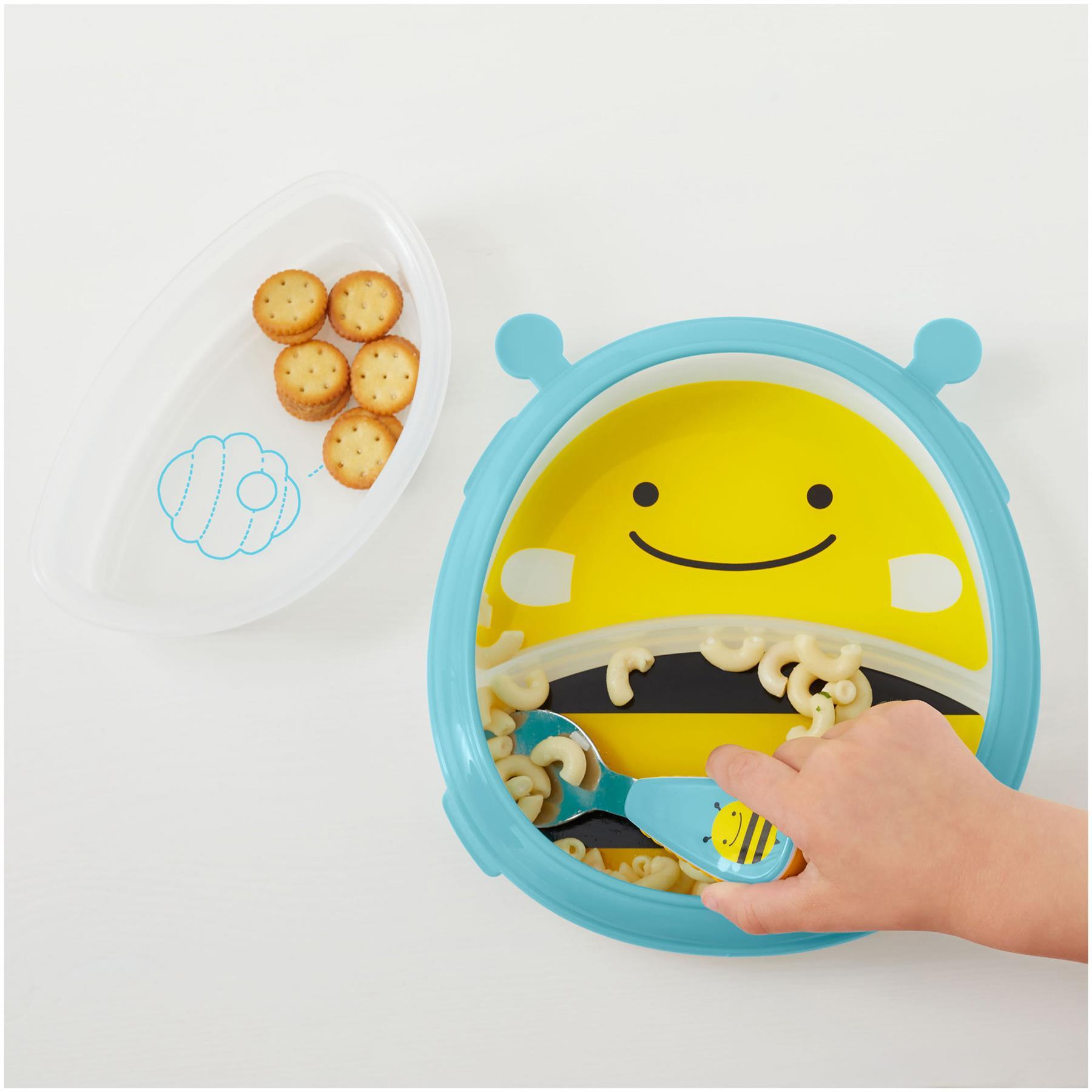 Skip Hop Zoo Smart servir assiette et bol-Bee Toddler Feeding BN