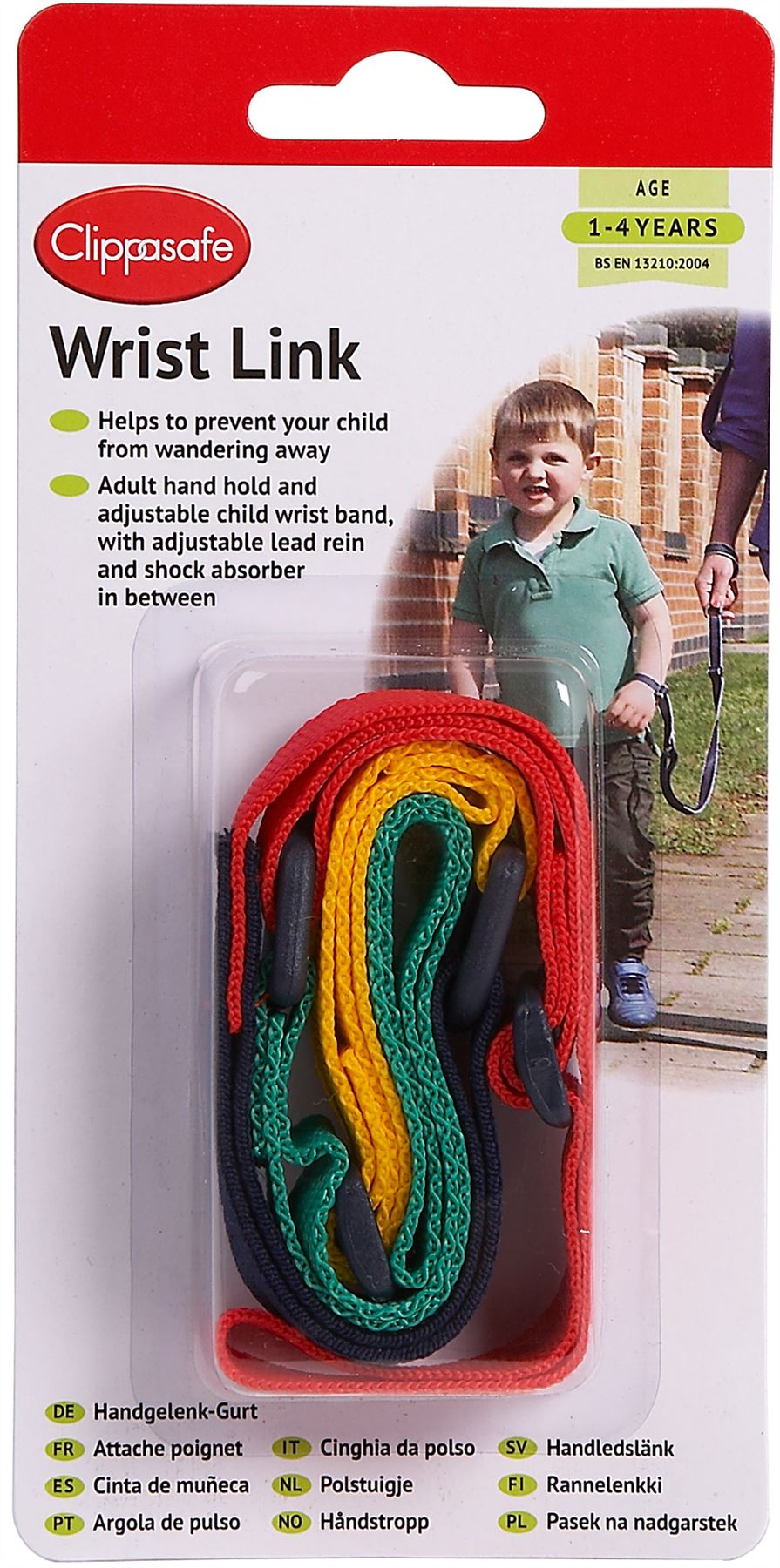 MULTI-COLOURED AGE 1-4 YEARS CLIPPASAFE WRIST LINK