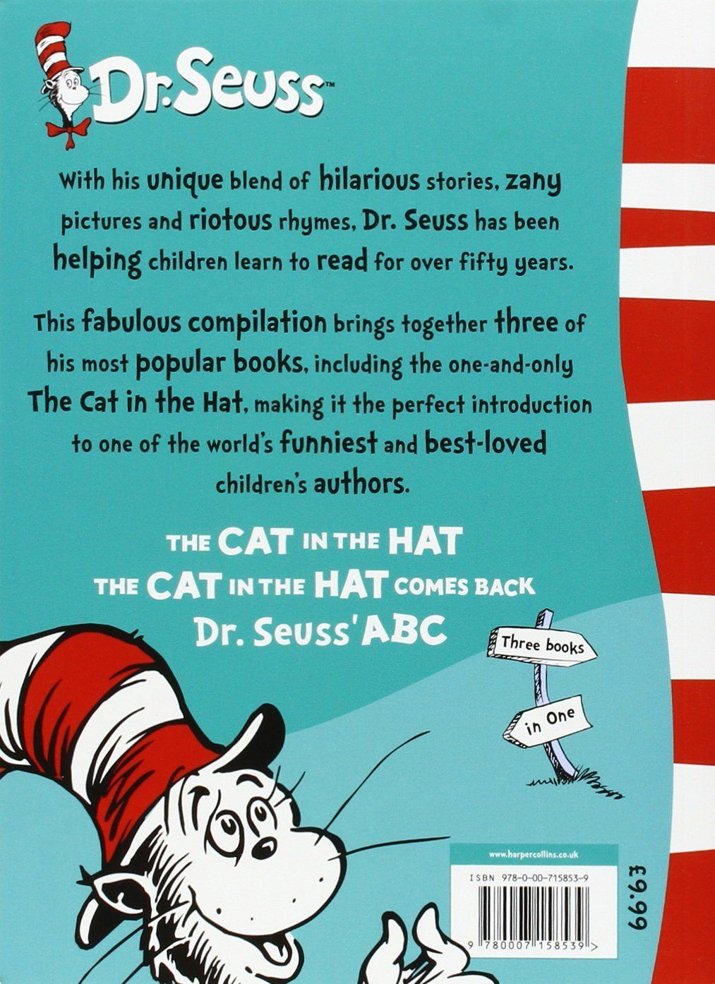 The Best Of Dr Seuss Cat In The Hatcomes Back Abc Story Book 3 In 1