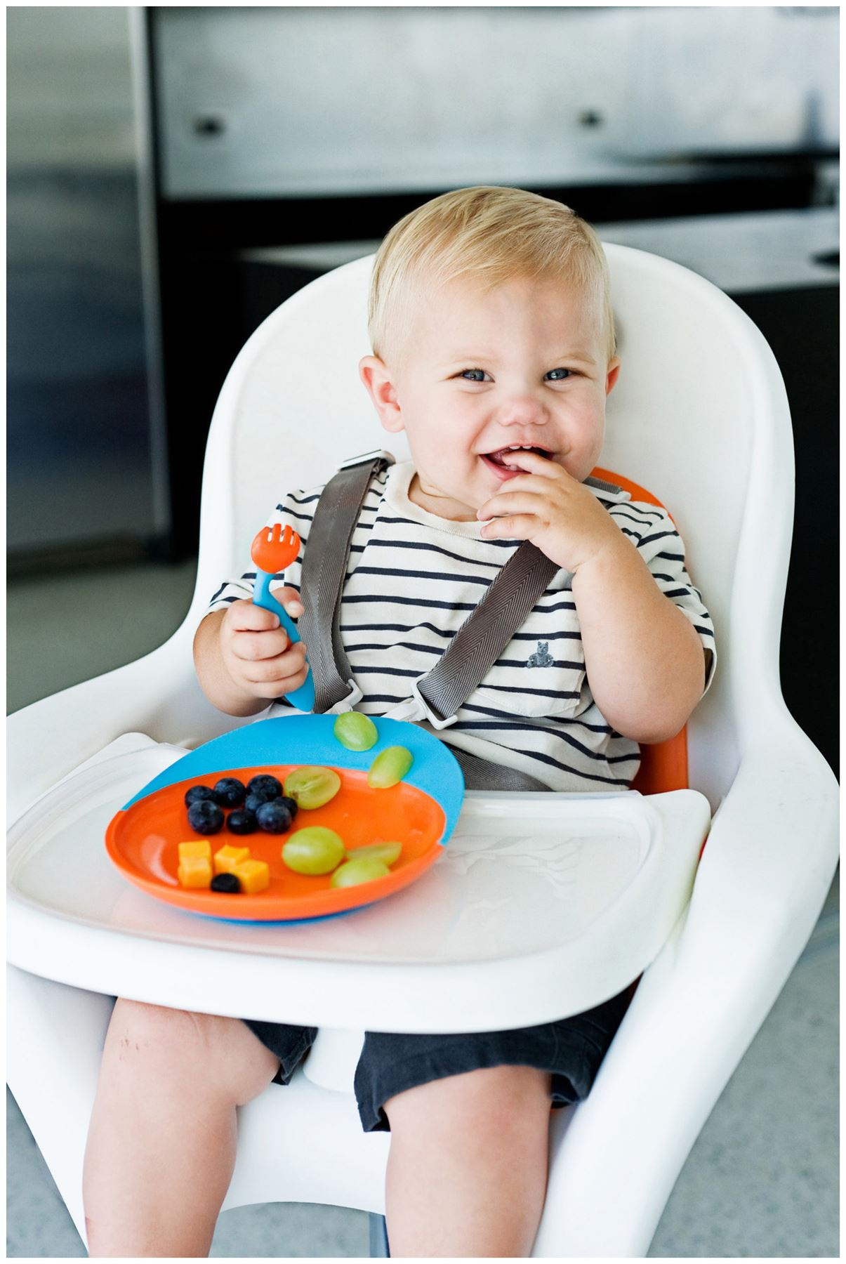 Boon PULP SILICONE FEEDER BLUE//ORANGE Baby Feeding Accessory BN