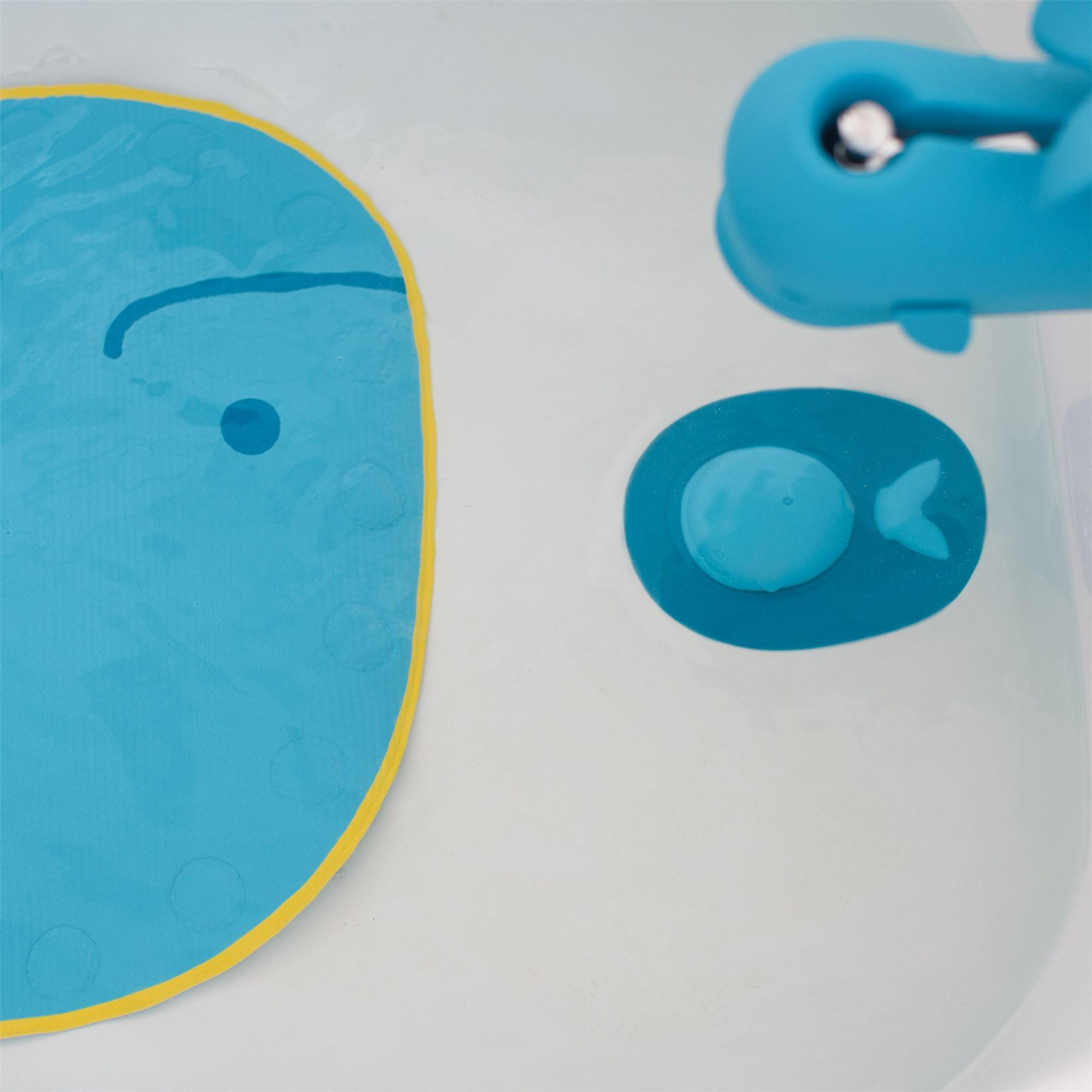 Skip Hop MOBY TUB STOPPER Blue Whale Bath Plug Cover Baby/Toddler ...