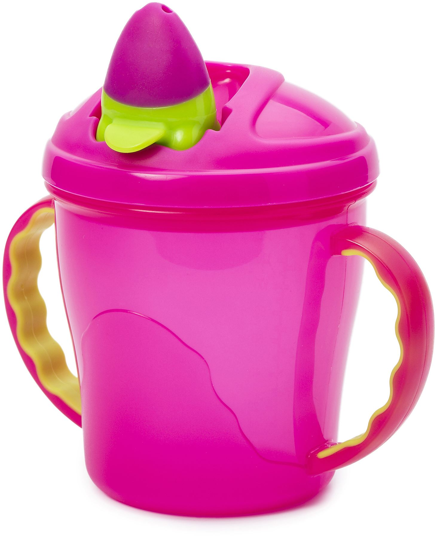 Vital Baby Free Flow Cup With Soft Flip Spout Pink Weaning Cups Bn Baby