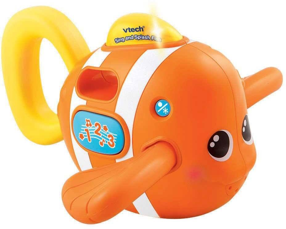 Vtech Baby Sing And Splash Fish Interactive Educational Bath Toy ...