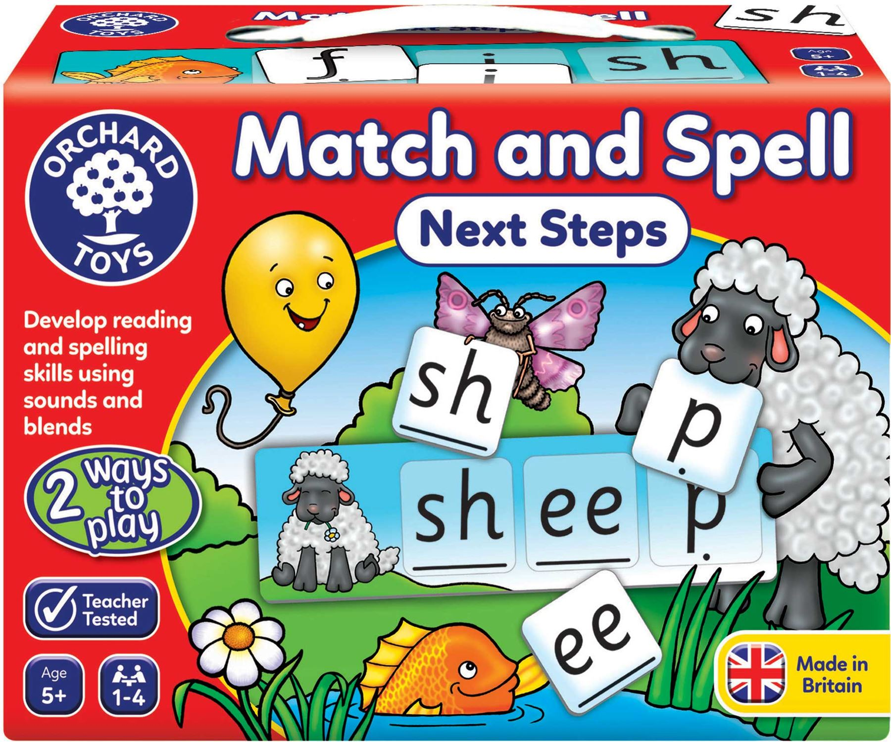 Orchard Toys MATCH & SPELL NEXT STEPS Educational Game ...
