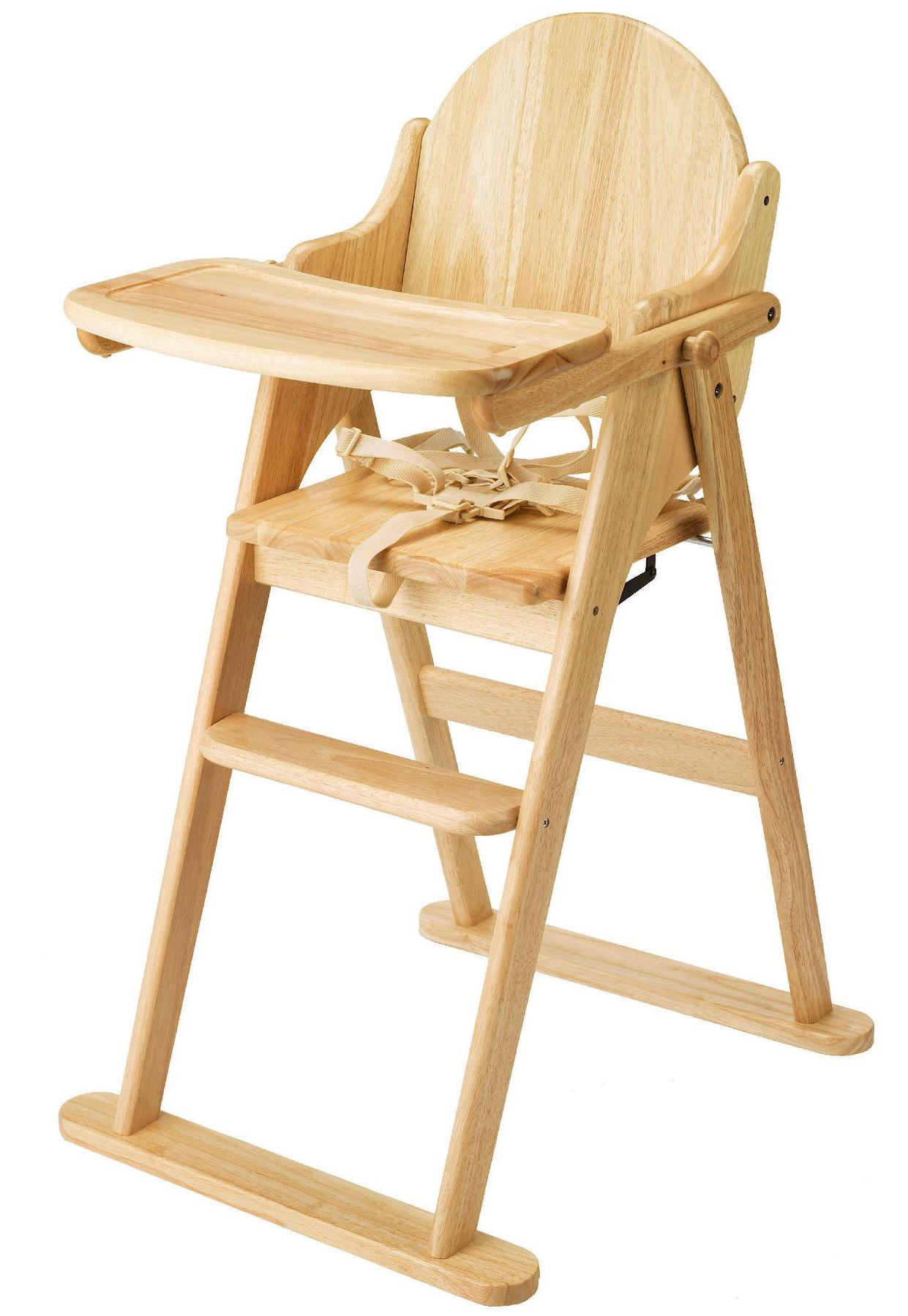 East Coast Folding Highchair Solid Wood Baby Child Toddler Feeding  # Muebles Bois Massif