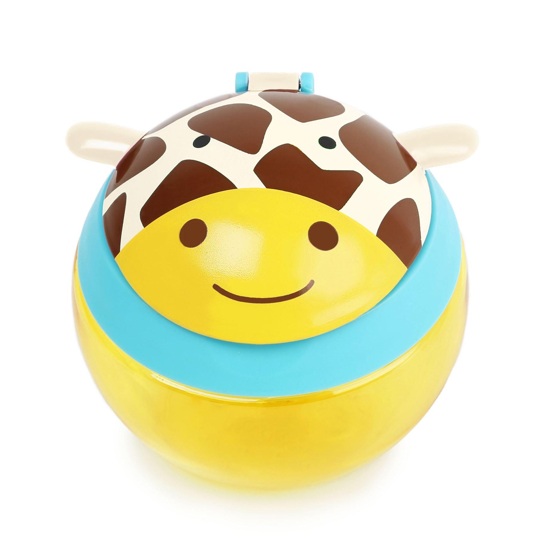 GIRAFFE Baby Feeding Cups Dishes Utensils BN Skip Hop ZOO SNACK CUP