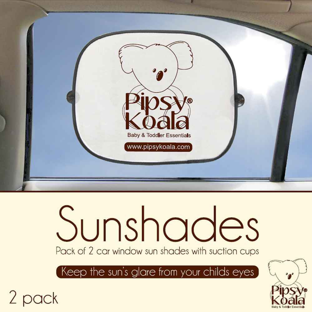 Pipsy Koala CAR SUNSHADES x 2 Baby//Toddler//Child Car//Travel Safety Accessory BN