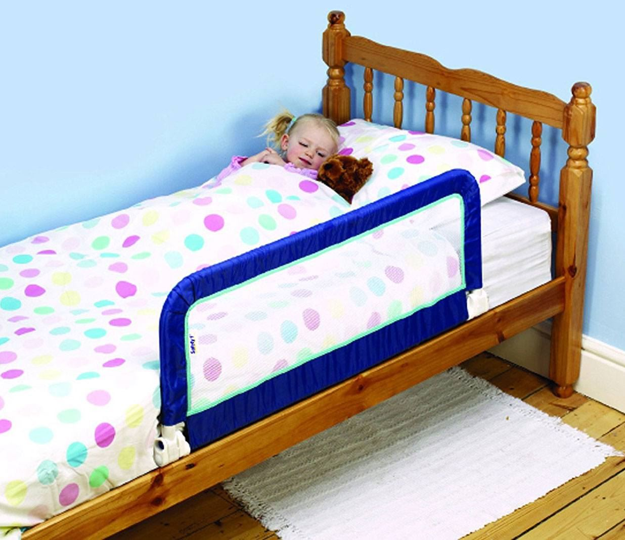 Safety 1St Portable Bed Rail Blue Toddler Child Bedroom Bedrail New