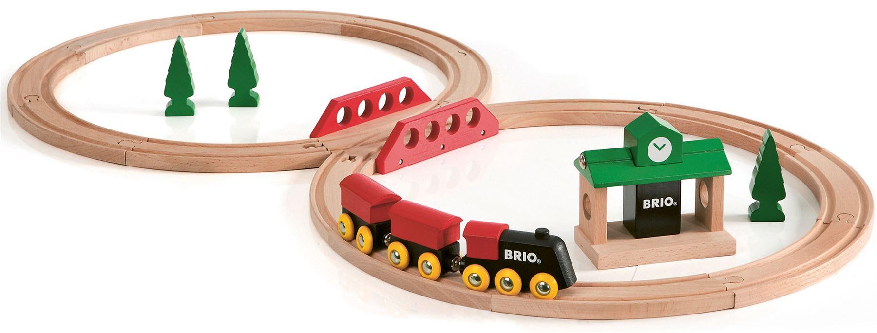 Brio Doppelhängebrücke Baby/Kleinkind/Kind Holzspielzeug Eisenbahnschienen Neu Spielzeug