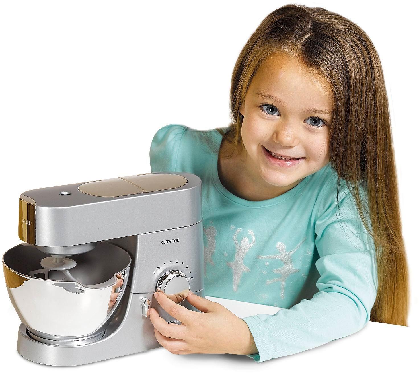 Casdon Little Cook Kenwood Titanium Mixer Role Play Kids Kitchen Toy ...
