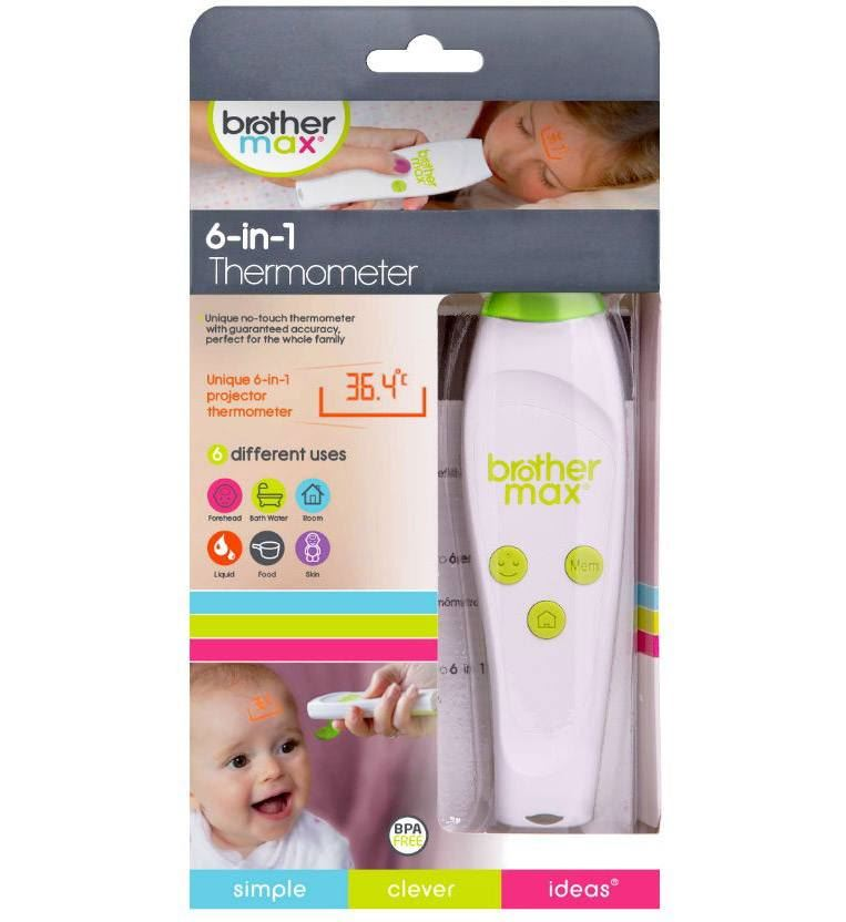 Brother Max 6 In 1 Projection Thermometer Room Skin Bath Water Temp ...