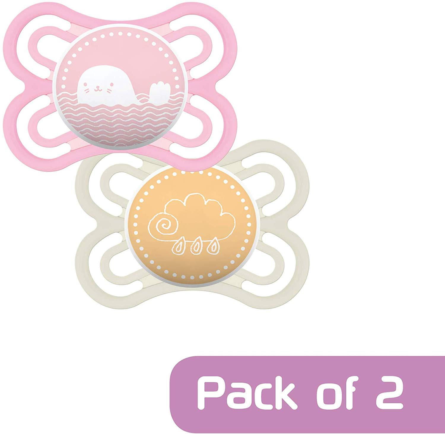 PINK Baby Infant Dummies Sleep Aid BN MAM NIGHT 0+M SOOTHER