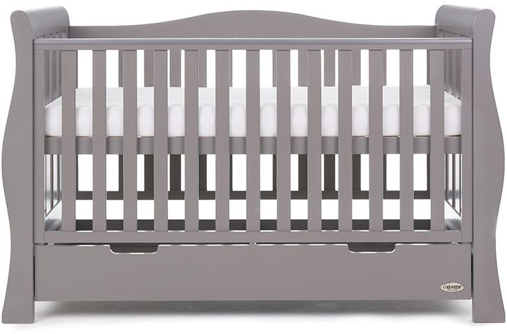 size 40 2dd47 1be1d Details about Obaby STAMFORD LUXE COT BED 140X70 TAUPE GREY Baby Nursery  Furniture BN