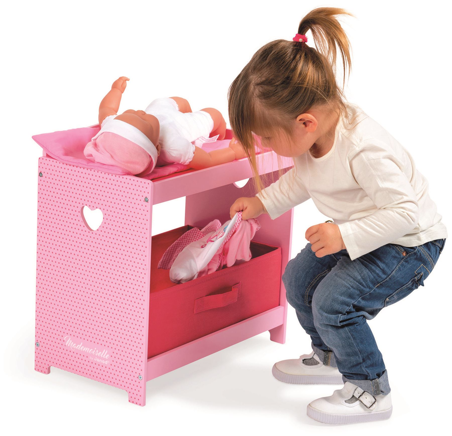 Janod MADEMOISELLE CHANGING TABLE Wooden Toys Games ...