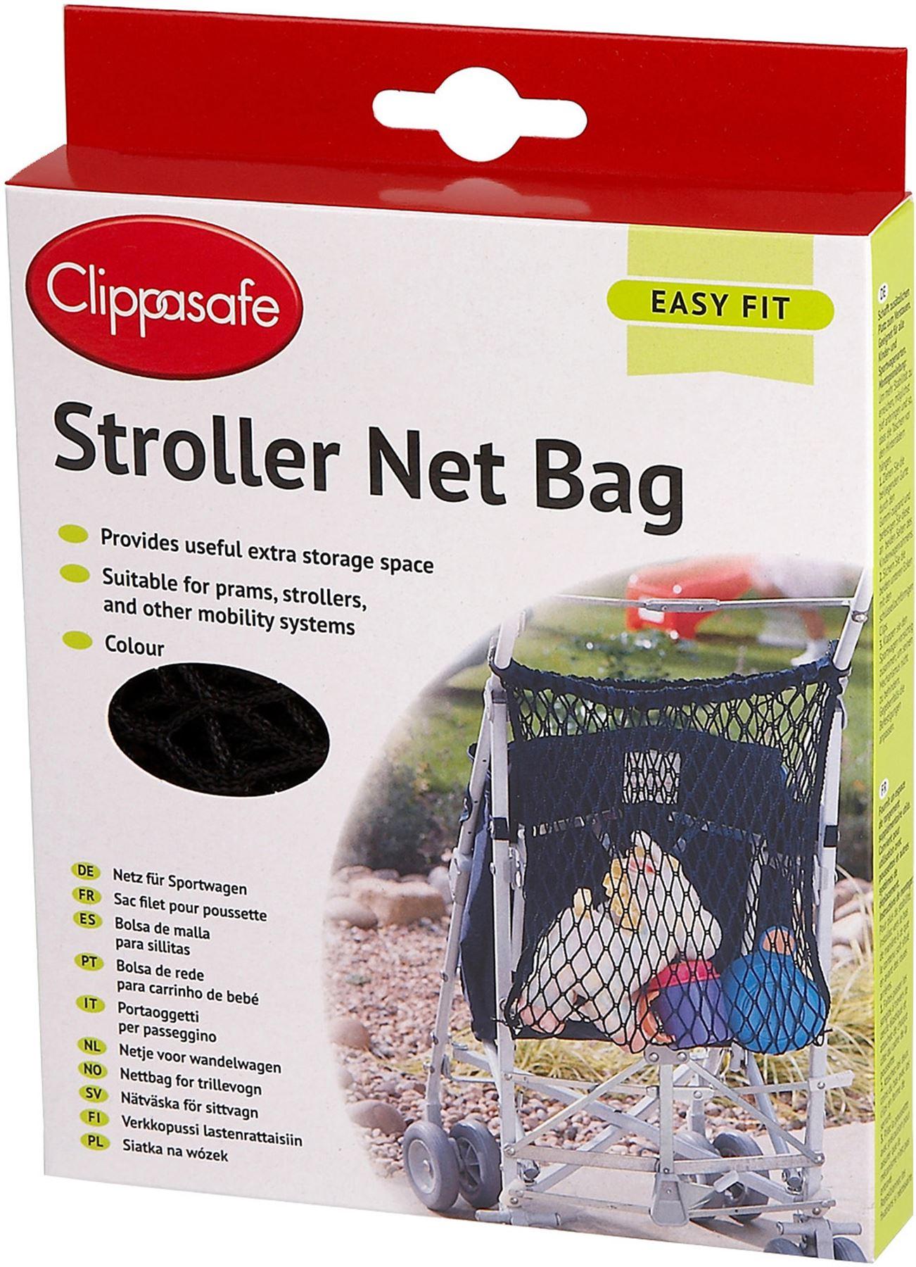 Clippasafe STROLLER NET BAG NAVY Pushchair//Stroller//Buggy Accessory BN