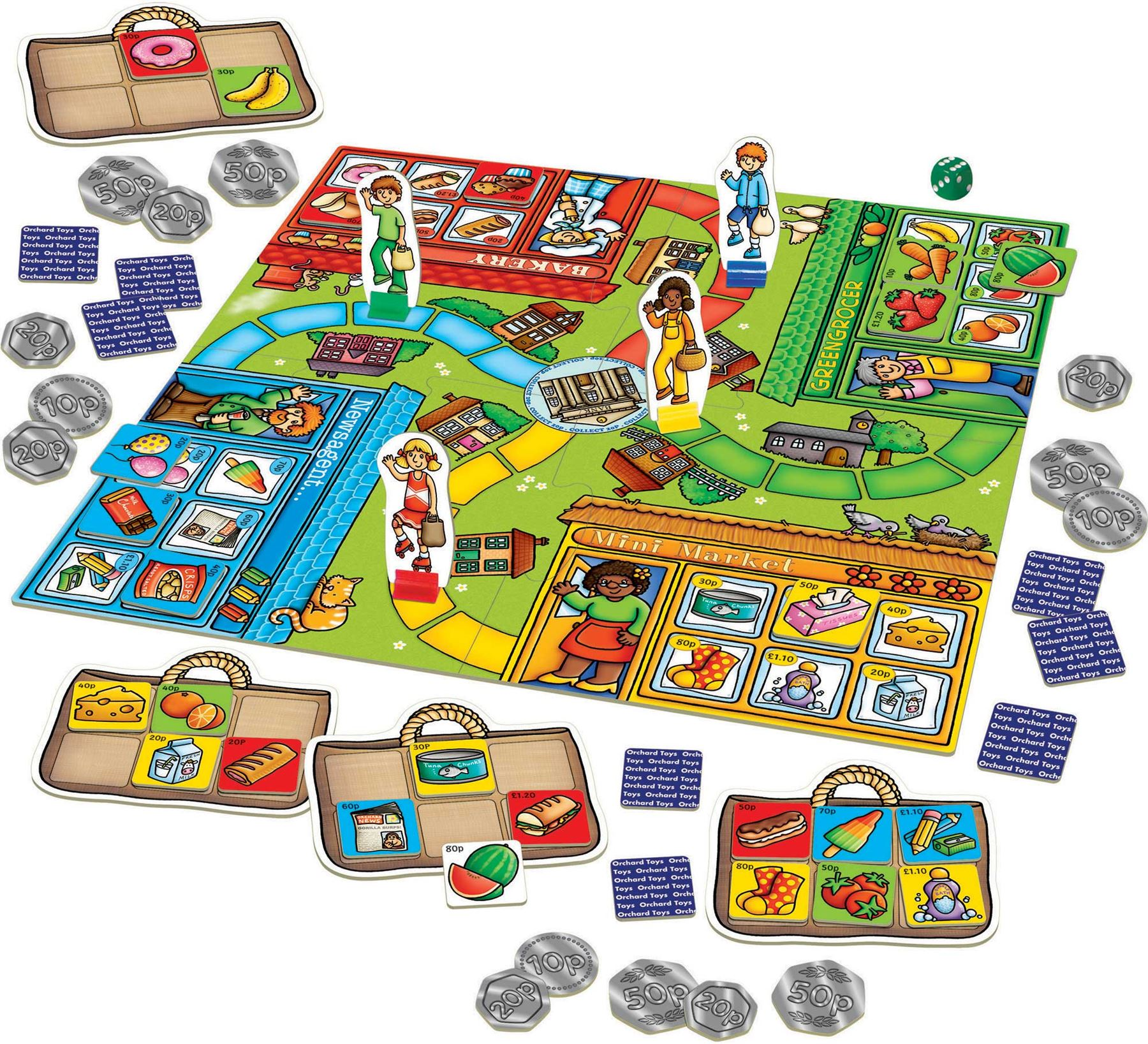 Orchard Toys POP TO THE SHOPS Educational Game Puzzle ...