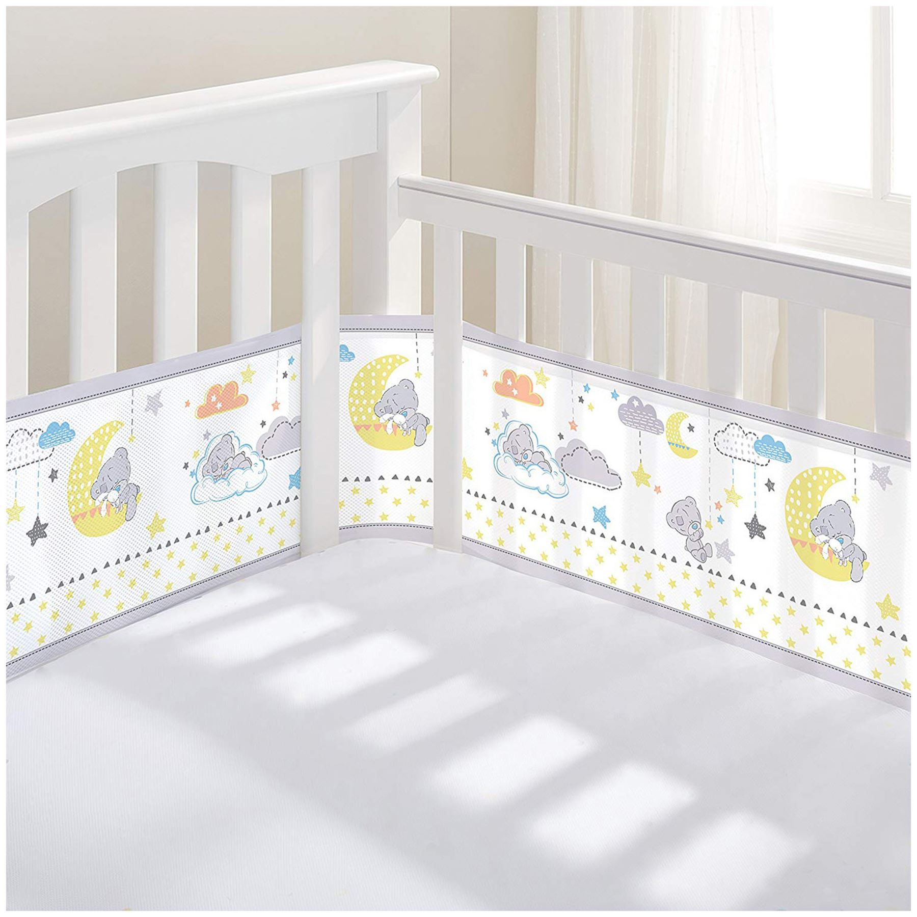 Breathable Baby BREATHABLE BABY AIRFLOW 2 SIDED COT LINER WHITE Baby BN
