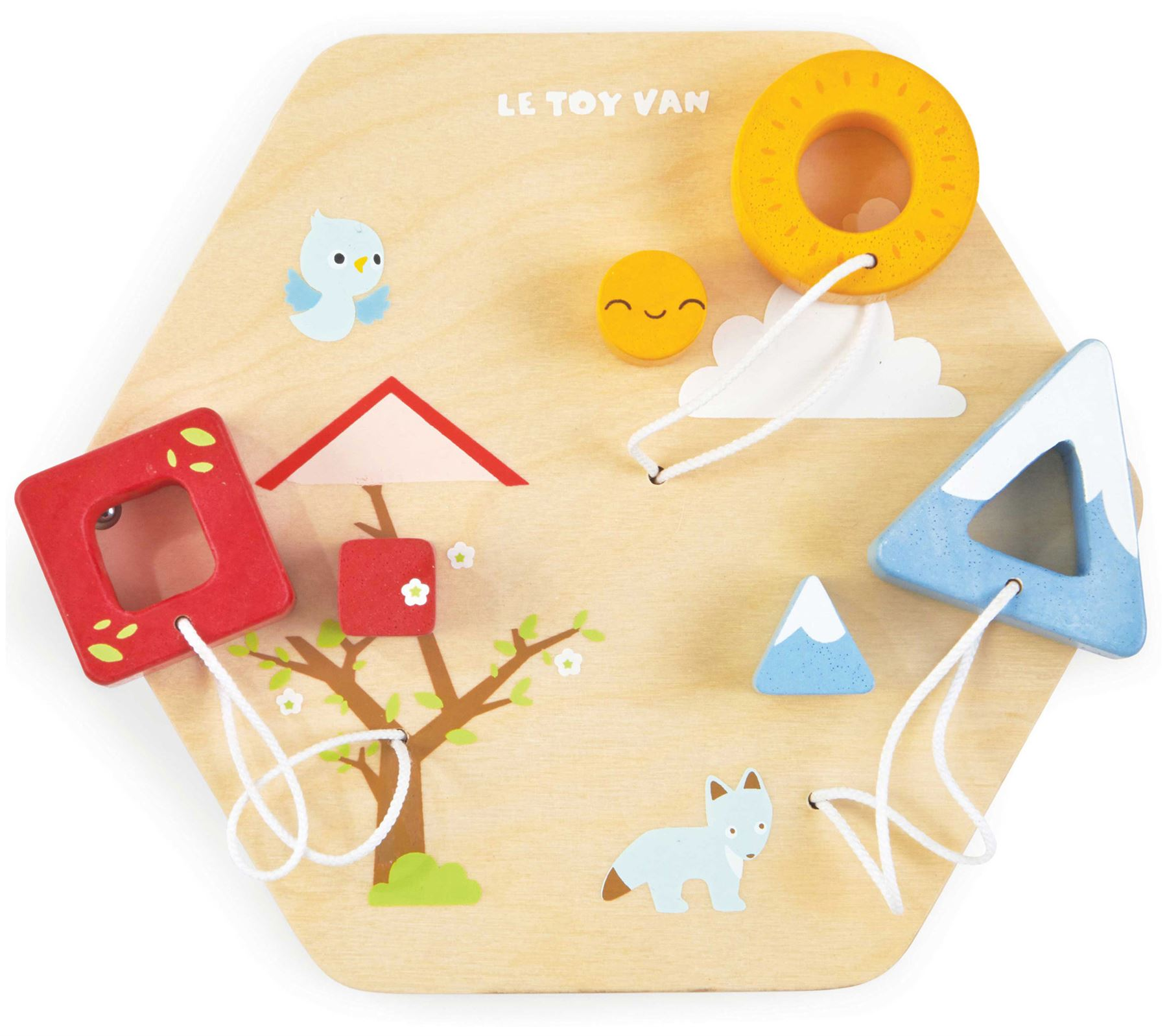 Le Toy Van Petilou BABY HOMES ACTIVITY TILE Wooden Toy BN