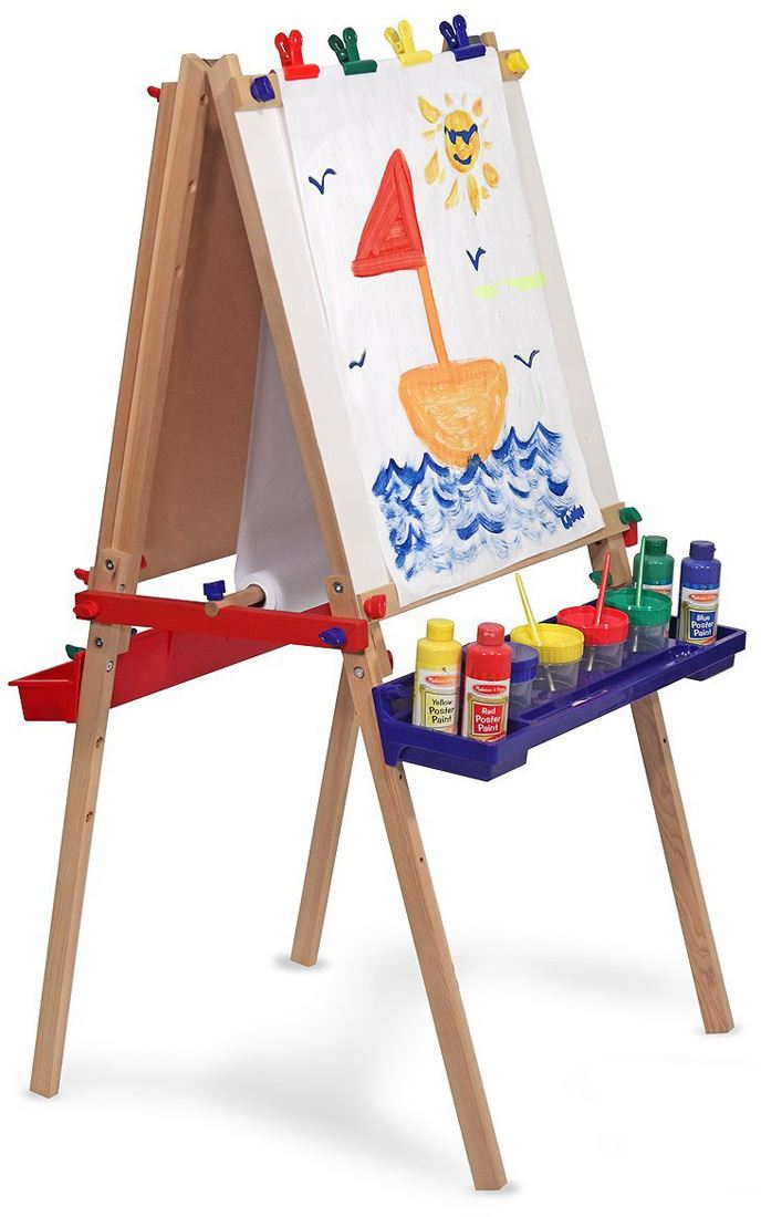 Details About Melissa Doug Deluxe Standing Art Easel Baby Toddler Child Painting New