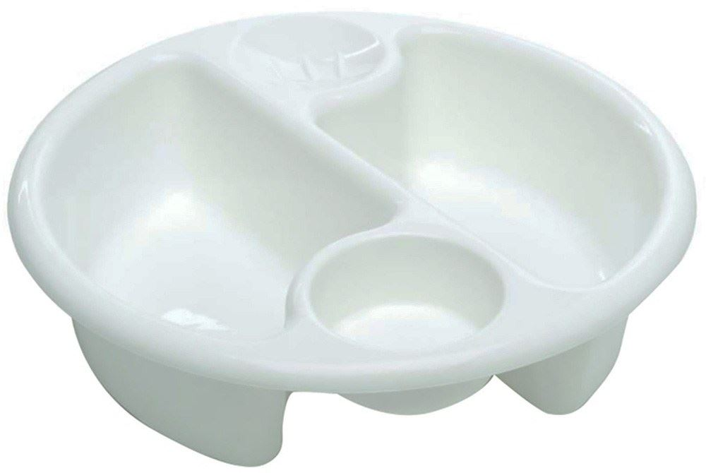 The Neat Nursery Top and Tail Baby Bath Oval Wash Bowl White