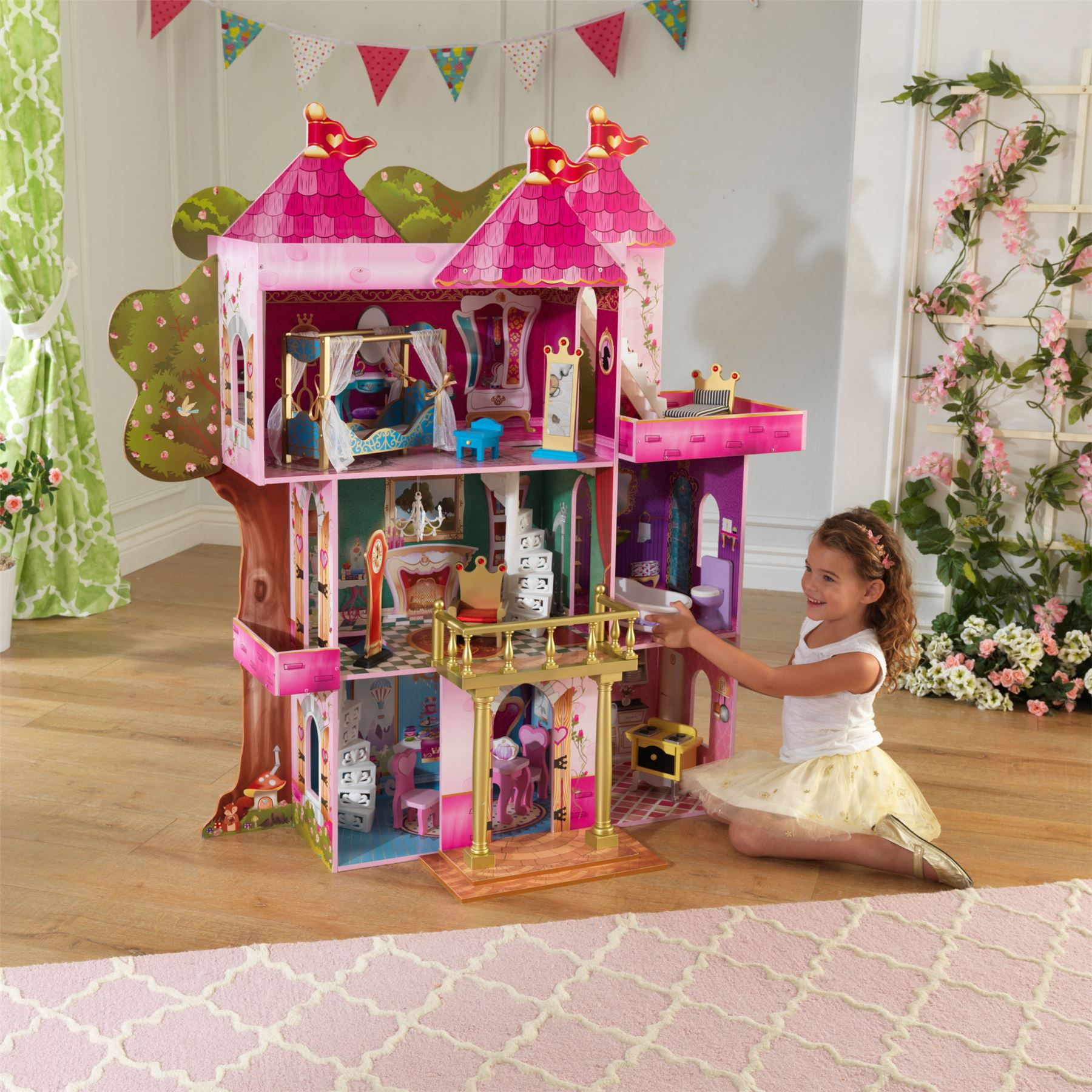 Kidkraft MAGNOLIA MANSION DOLLHOUSE for 12 Dolls Kids/Childrens Toy BNIP Puppenhäuser