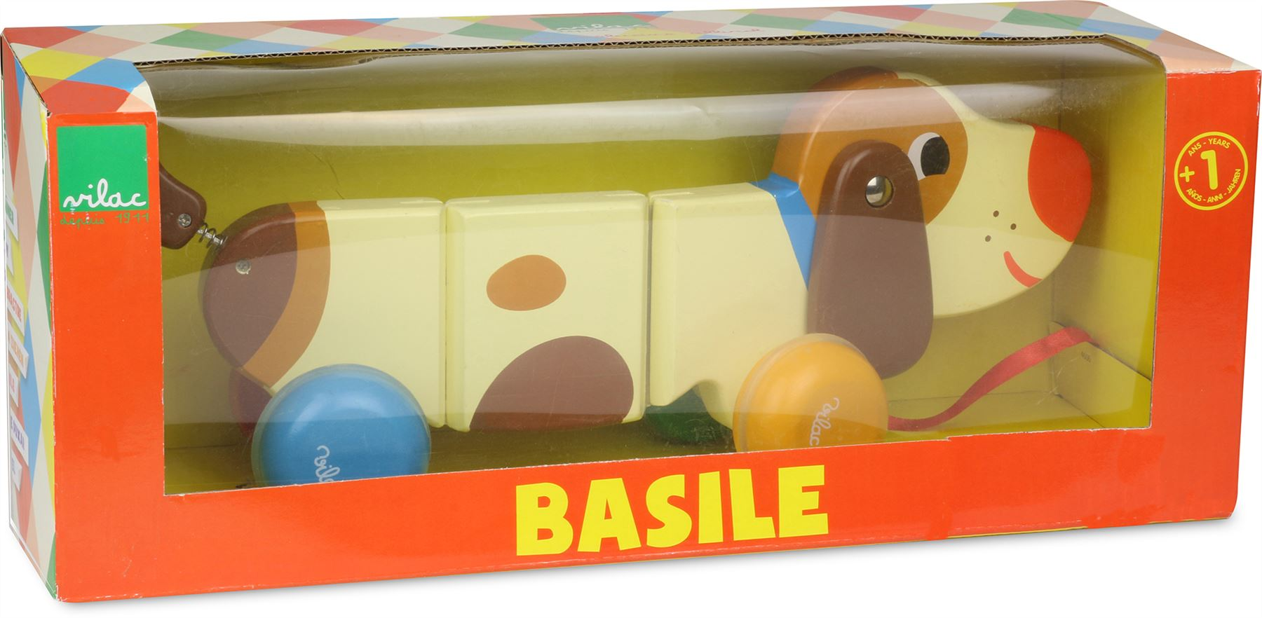 Vilac Basile The Dog Pull-along Toy Baby/toddler Wooden Animal Walking Pet Bn Wooden & Handcrafted Toys