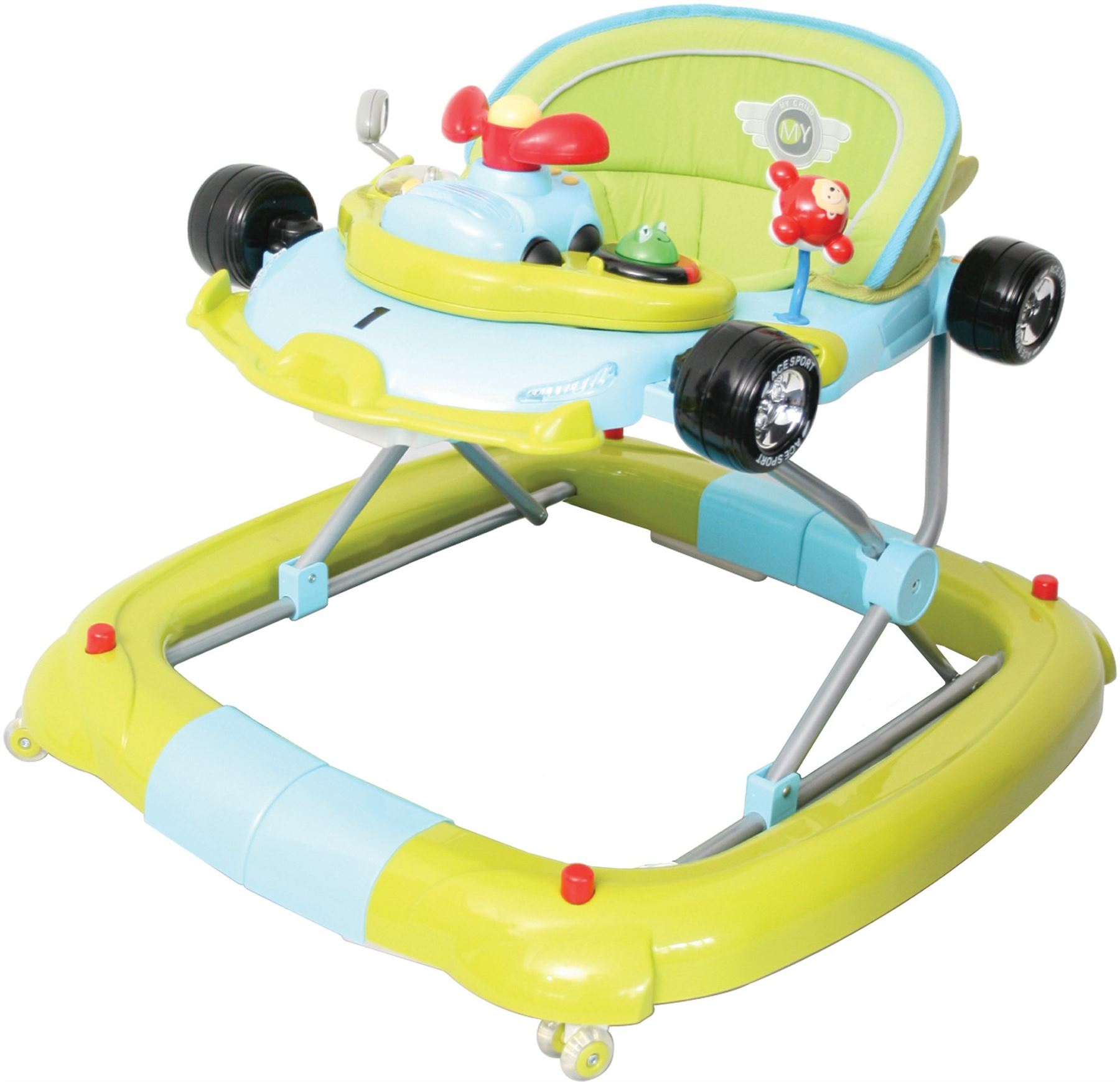 MyChild F1 CAR WALKER RACING GO GO GREEN Musical Baby Activity Toy