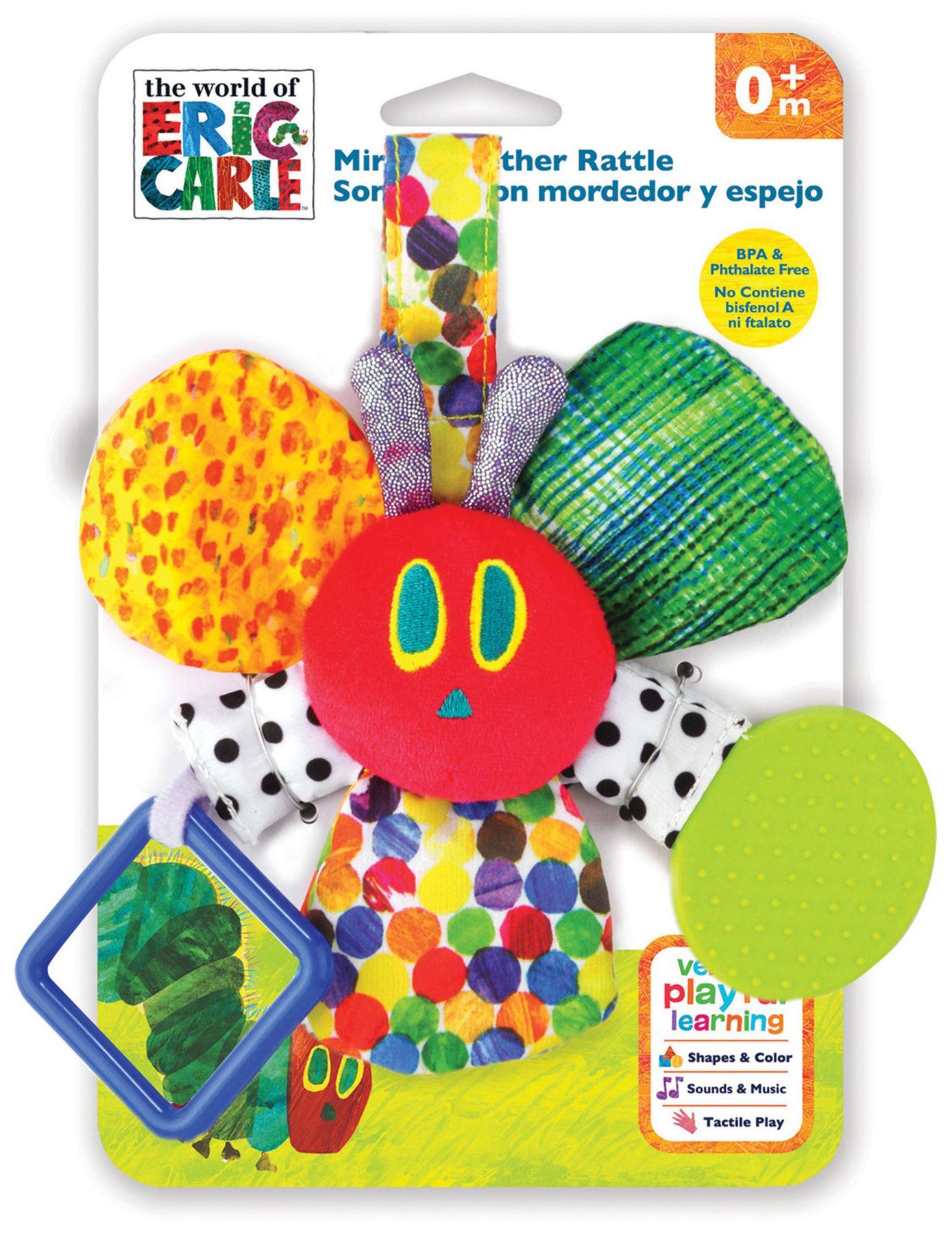 Eric Carle Mirror Teether Kids Preferred 55127 Plush /& Toy Items Eric Carle Plush Toys /& Animals