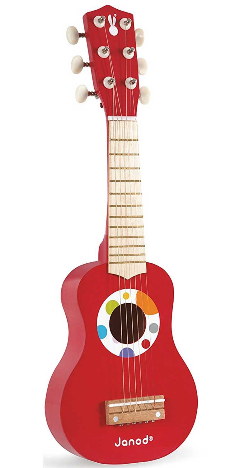 janod my first guitar toddler child wooden musical toy gift bn 3700217376284 ebay. Black Bedroom Furniture Sets. Home Design Ideas