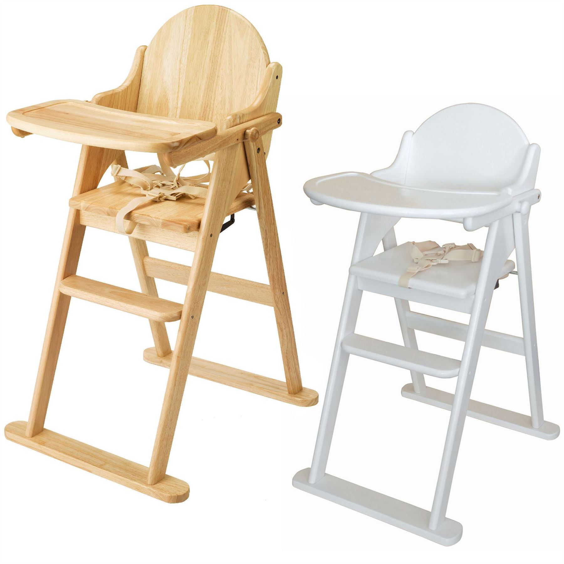 East Coast FOLDING HIGHCHAIR SOLID WOOD Baby Child Toddler Feeding