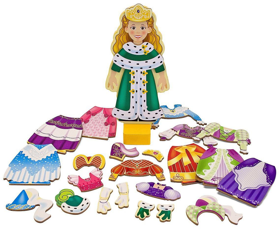 Melissa & Doug Magnet Verkleiden Holz Spielzeug Prinzessin Elise ...