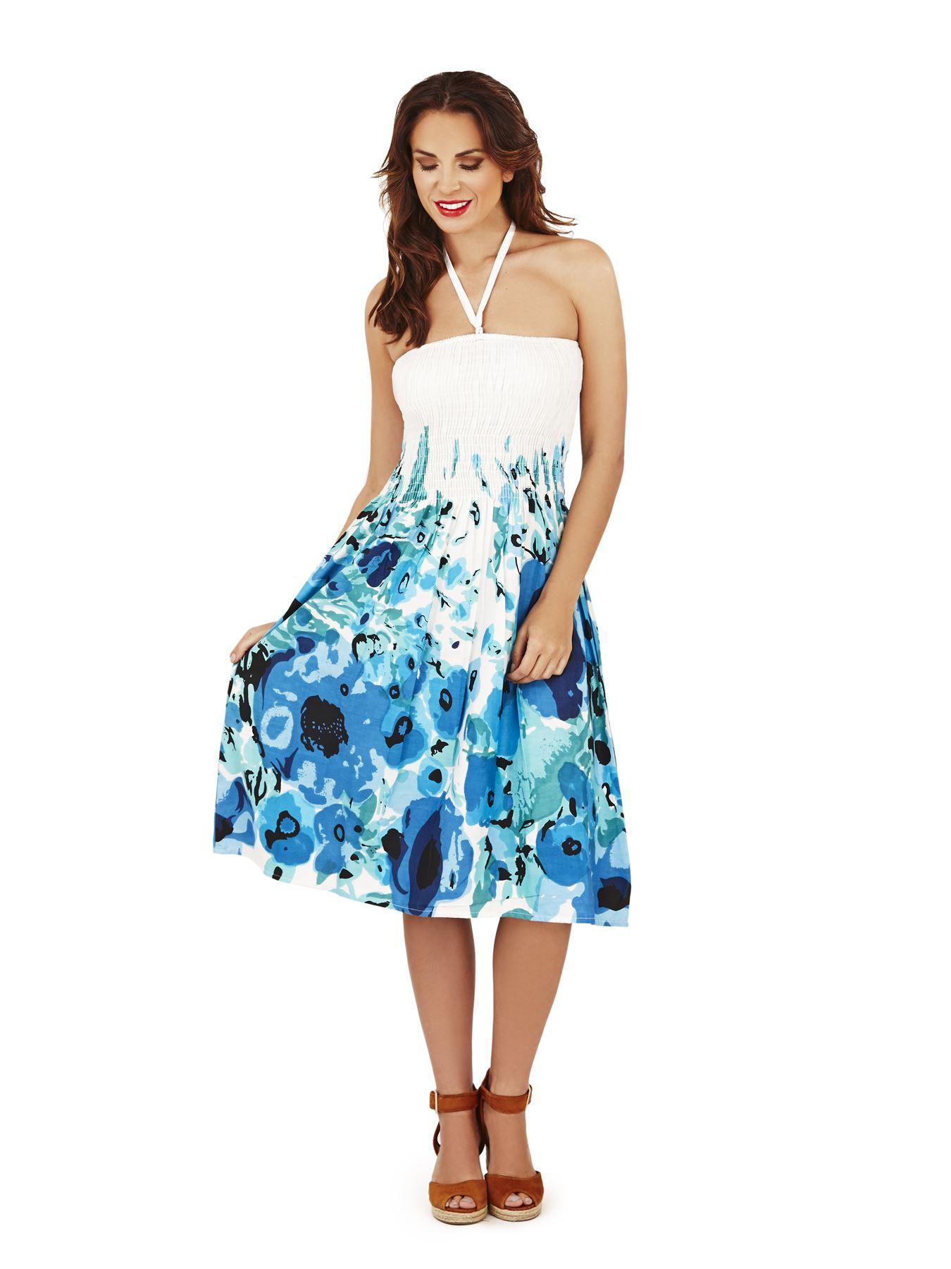 Martildo Ladies Summer Beach Cotton 2in1 Dress Light ...