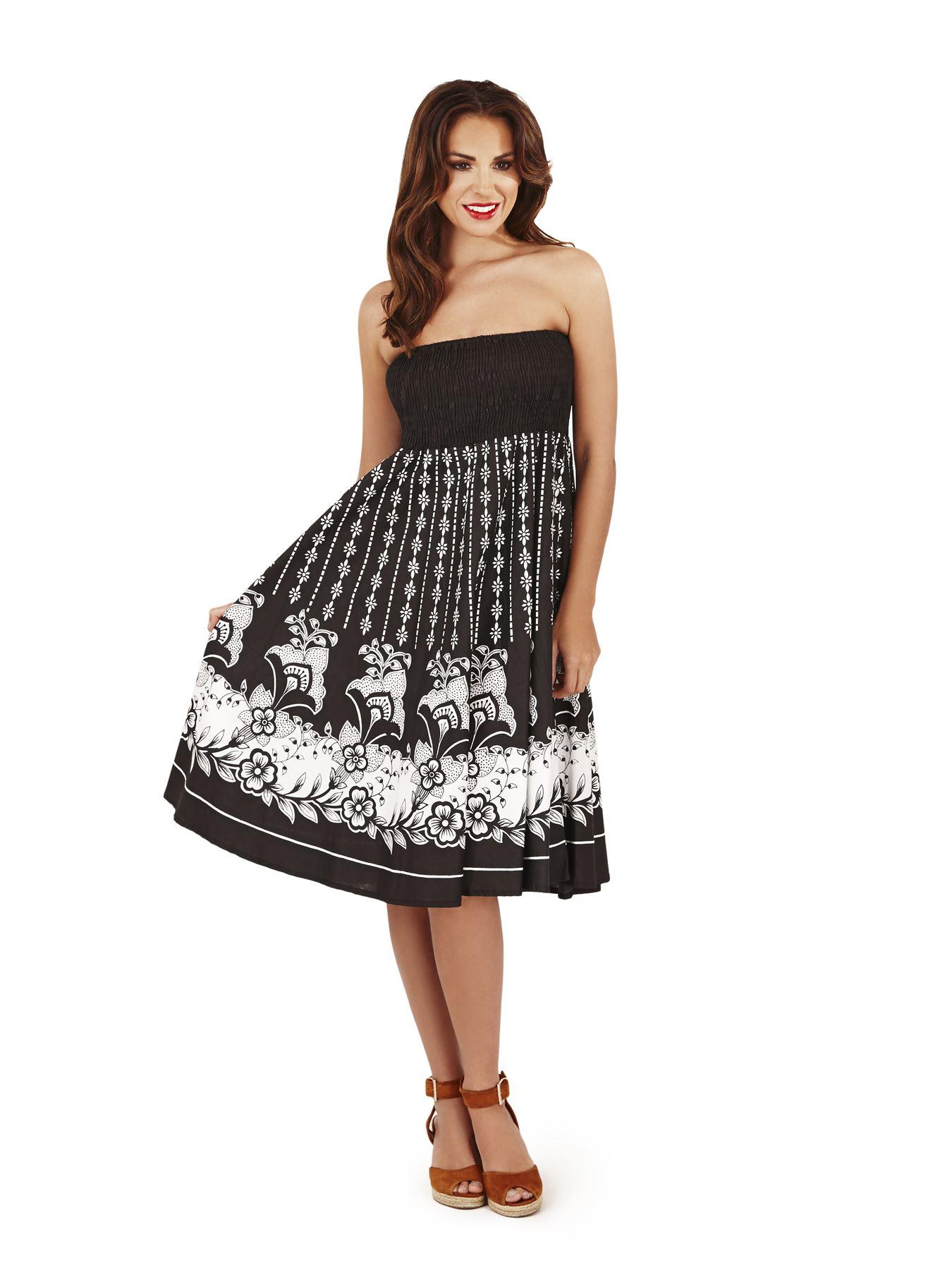 Women Casual Dress Skirt Summer Beach Holiday Dress Sundress ...