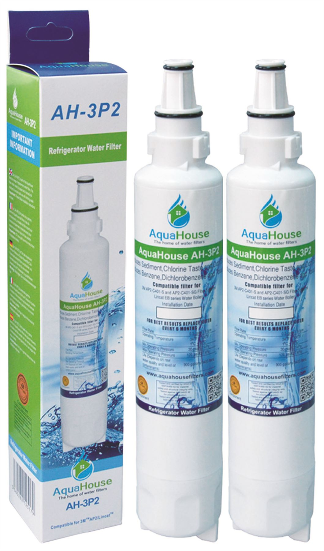 2x aquahouse Compatibile Filtro Acqua per Lamona Leisure hja6000 HJA6100 hjaj6100