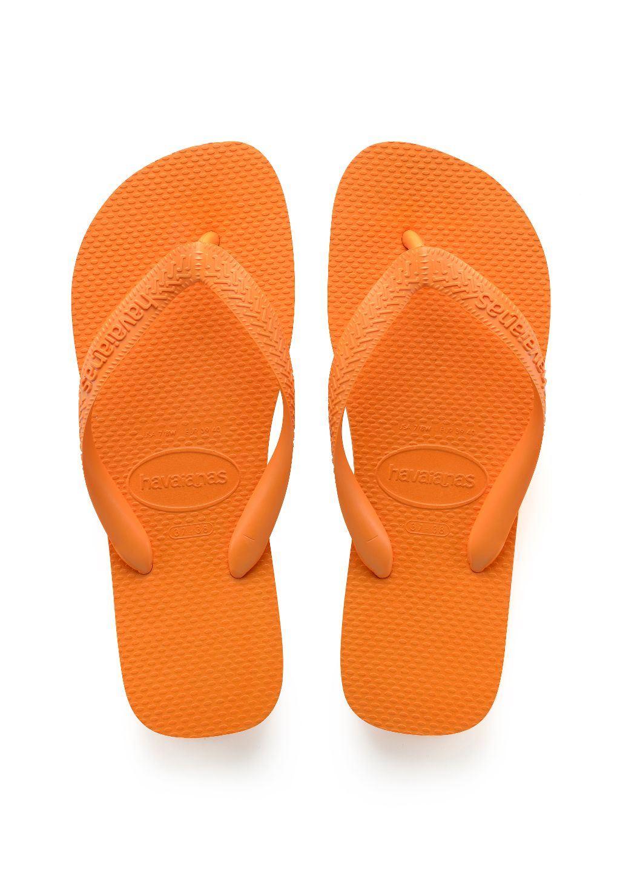 Gentleman/Lady Havaianas Top Economical Light Orange Flip Flops Economical Top and practical Beautiful Popular tide shoes 568848