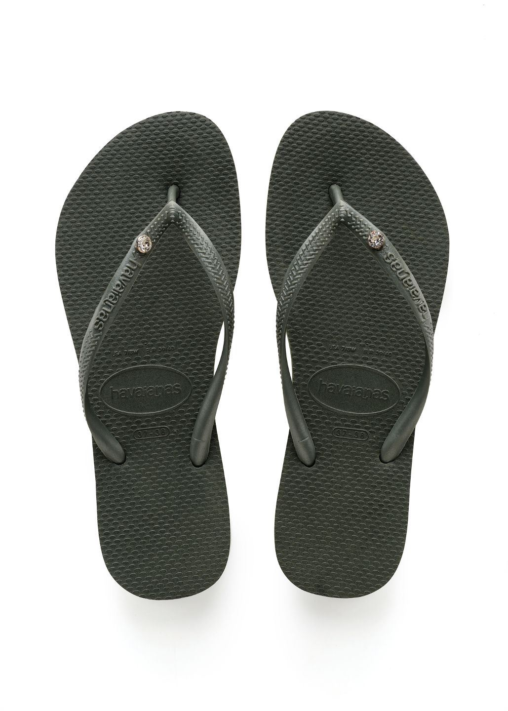 131b378d339a3c Image is loading Havaianas-Crystal-Glamour-Olive-Green-Flip-Flops