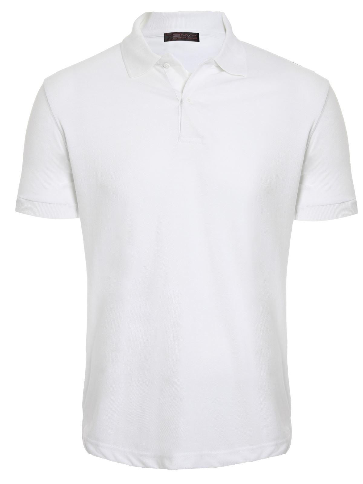 Mens Womens Unisex Plain Casual Short Sleeve Polo Shirt ...