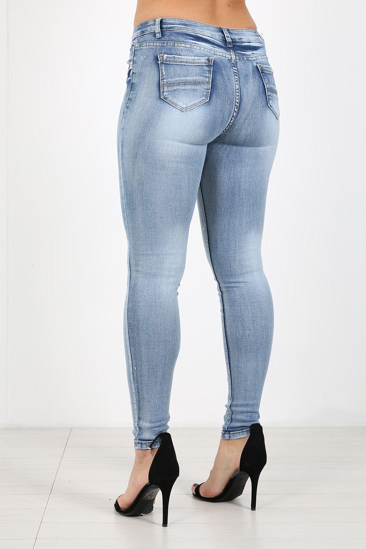damen denim skinny fit jeans farben spritzer vintage. Black Bedroom Furniture Sets. Home Design Ideas