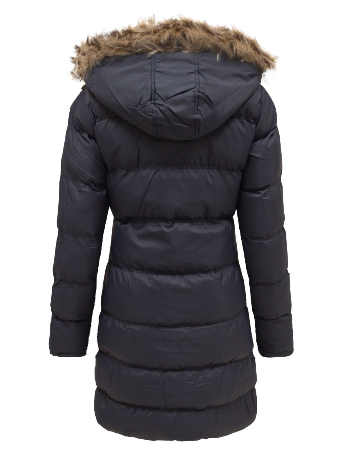 la s fur hooded padded quilted puffer long parka jacket womens #1: d1741dec 96b2 4cdc 9bd3 9dea0bd
