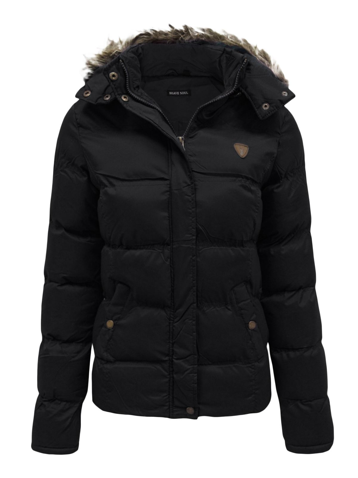 Hooded quilted jacket women