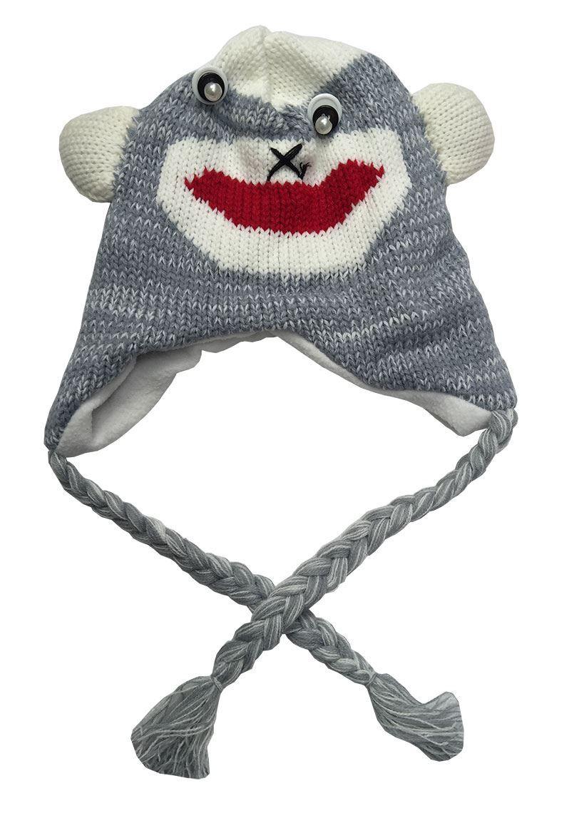 Kids Fun Cute Animal Caps Cartoon Characters Ski Hat Warm Winner Hats  Earmuffs 47189d46762e