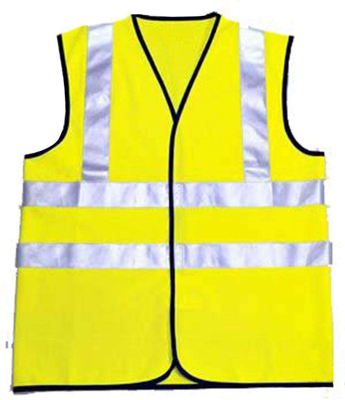 mens high vis safety yellow hi viz vest work waistcoat top. Black Bedroom Furniture Sets. Home Design Ideas