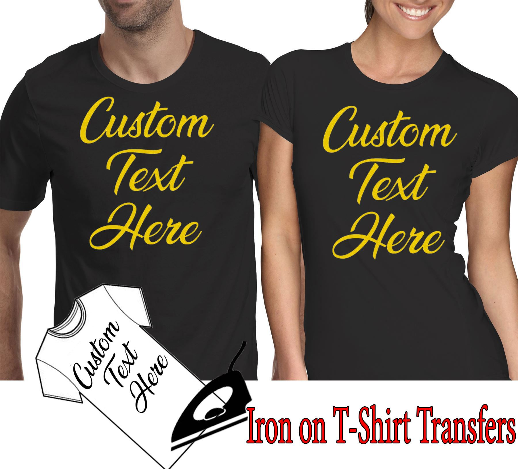 Personalised image Stag night event Hen Your text Customised T Shirt