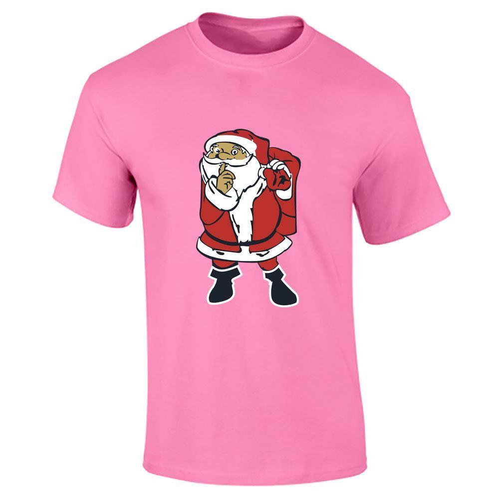 Santa-Claus-Imprime-T-Shirt-Garcons-Homme-Joyeux-Noel-a-Manches-Courtes-Top-Tee-Lot miniature 13