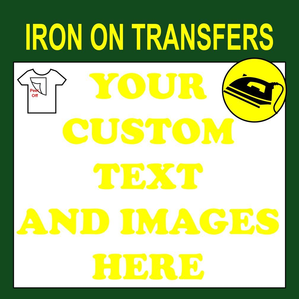 This is a photo of Genius Printable Iron on Transfers