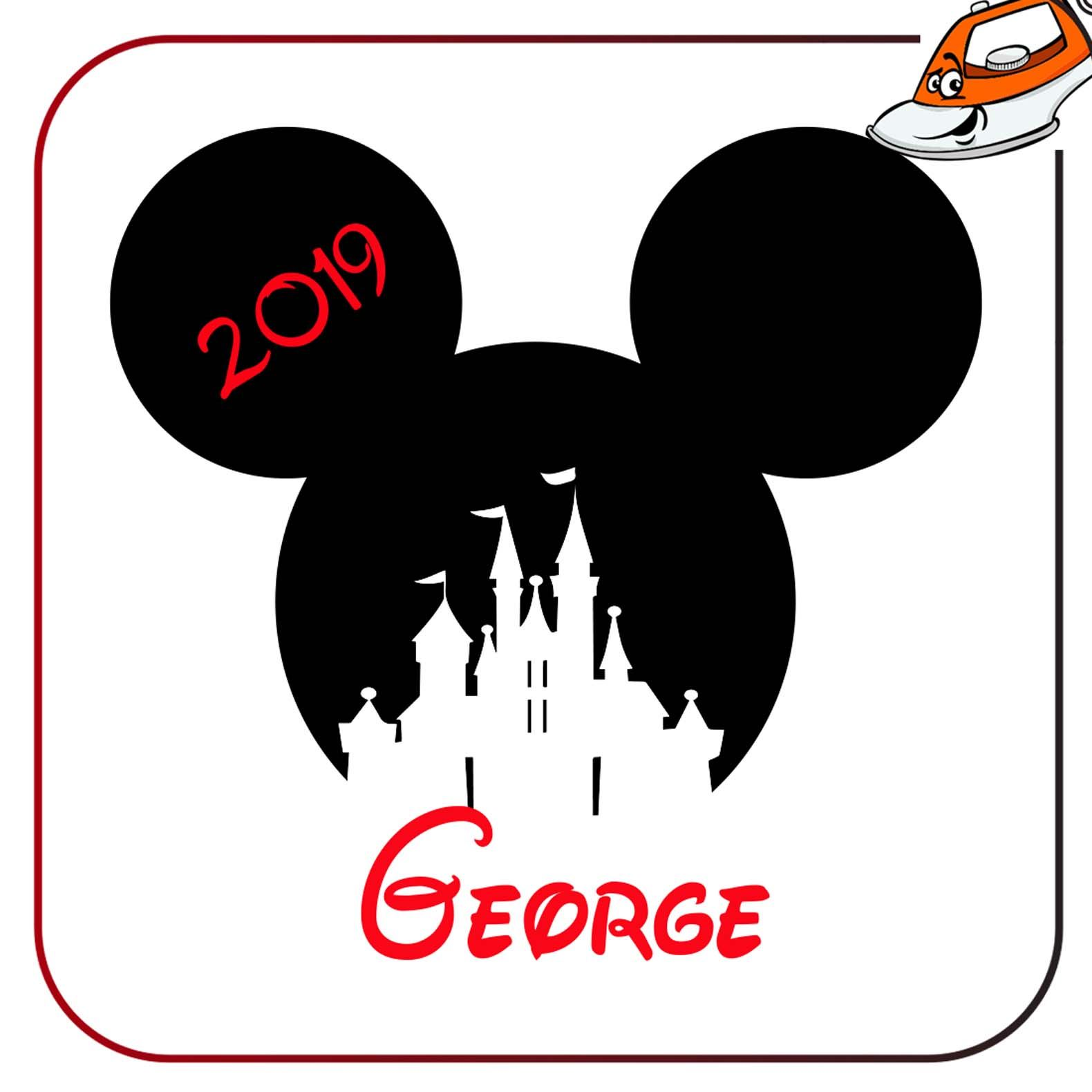 MICKEY MOUSE PERSONALIZED IRON ON T-SHIRT TRANSFER