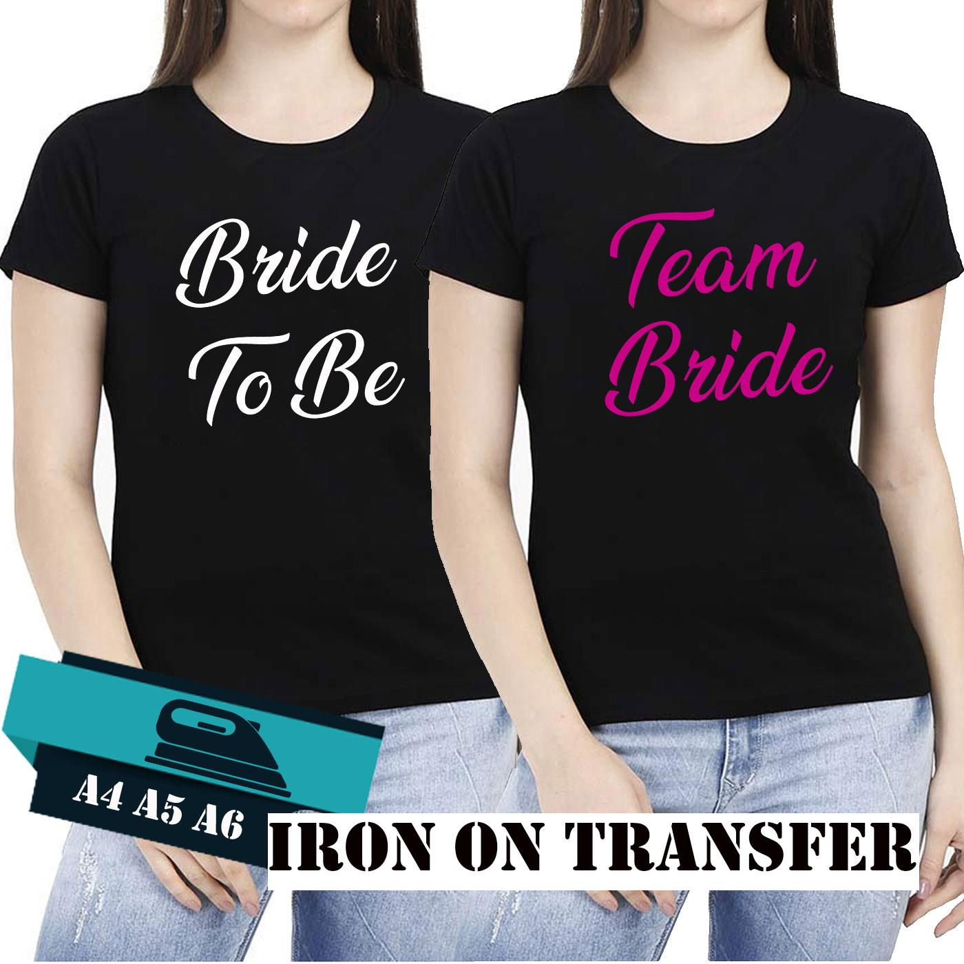 Hen Do Party Bride Tribe To Be Wedding 2019 Iron On Transfer T-Shirt Vinyl