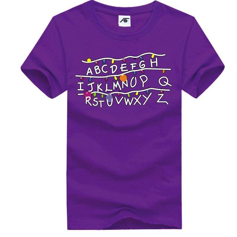 Alfabeto-ABC-Stampato-Top-Da-Uomo-Ragazzi-Manica-Corta-Casual-Wear-T-shirt-cotone-TEE
